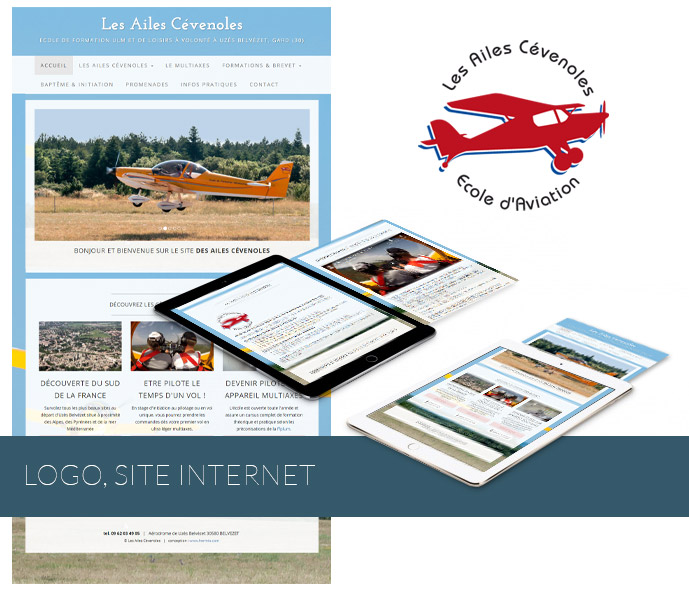 Ailes Cevenoles logo, site Internet